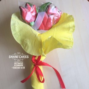 Пряники в букете цветов купить в самаре