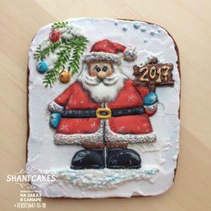 Пряник открытка дед мороз