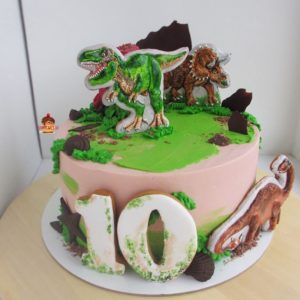 Торт с динозаврами на заказ в Самаре