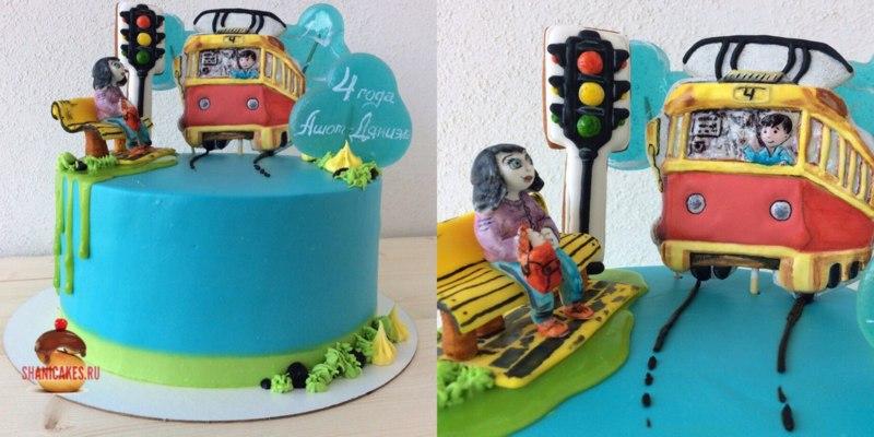 Торт с трамваем (Самара)