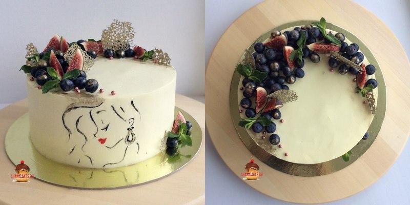 Красивый торт для девушки без мастики в Самаре