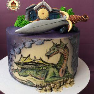 дракон на тортике