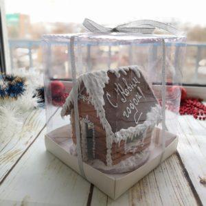 имбирный пряничный домик с подсветкой