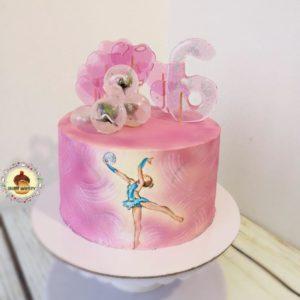 торт для гимнастки без мастики
