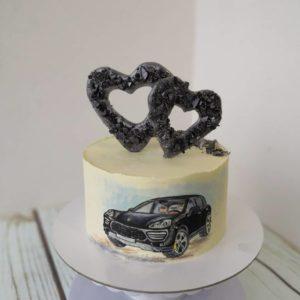 торт для мужчины с автомобилем