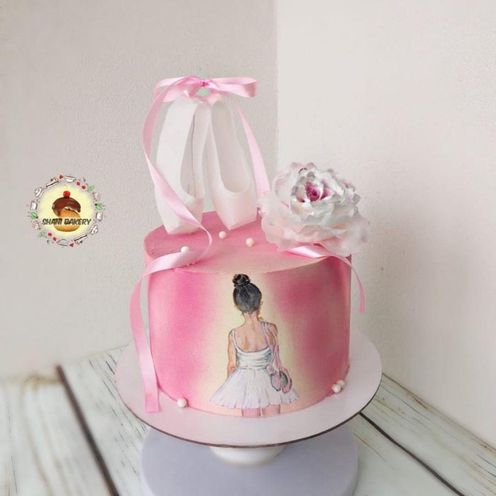 Торт с балериной для девочки рисунок по шоколаду