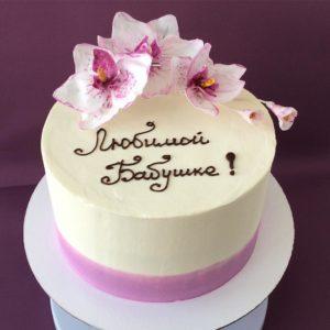 торт с орхидеями фото