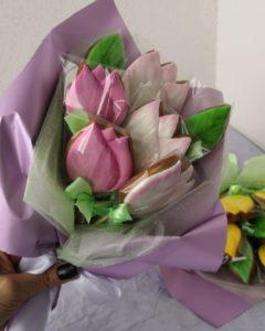 тюльпаны из имбирных пряников