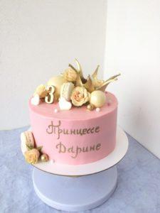 торт без мастики с короной