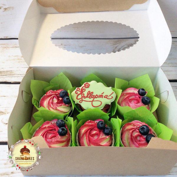 розовые с голубикой