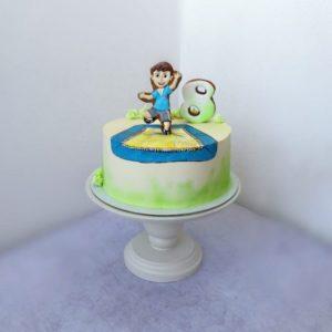 мальчик на батуте фото торта