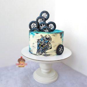 фото торт с мотоциклистом без мастики