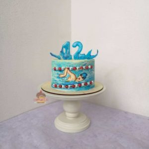 фото торт для плавчихи без мастики